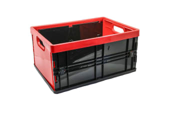 Box Sweden 45L 53.5cm Rectangle Collapsible/Foldable Crate Storage Large Red
