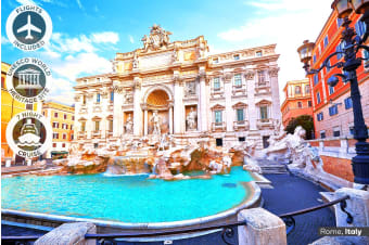 EUROPE: 22 Days Amazing Europe Tour Including 7 Nights Eastern Mediterranean Cruise with Flights for One or Two