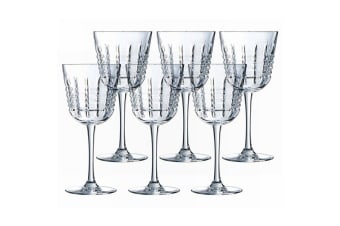 6PK Cristal D'Arques Rendez-Vous 250ml Red White Wine Glasses Bar Tableware