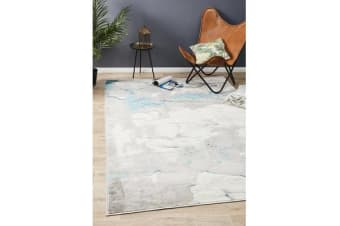 Felicia Blue & Grey Soft Rug 290x200cm