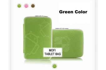 Leader Electronics Tablet 10' MofiZip Case Green Andriod logo. Suit any 10' tab