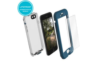 Lifeproof Nuud Blue Waterproof Case Cover w/ Alpha Glass for iPhone 7 Plus
