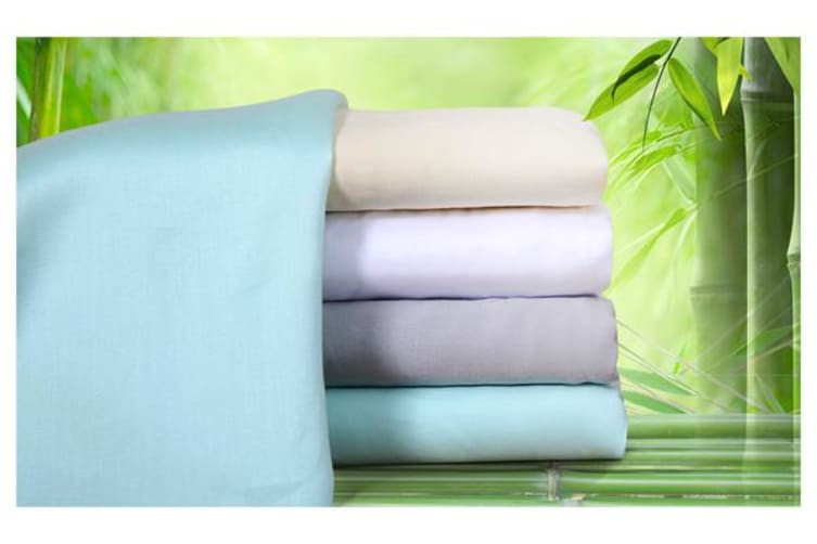 400TC Bamboo Cotton Sheet 4 Pieces Set IVORY Queen