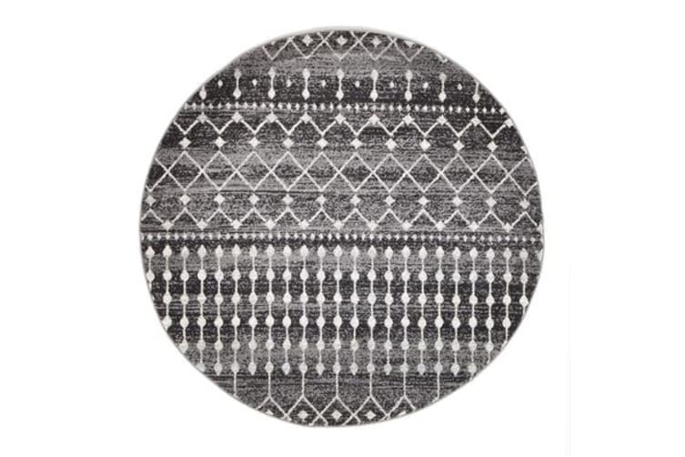 Simplicity Black Transitional Rug 240x240cm