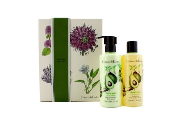 Crabtree & Evelyn Avocado, Olive & Basil Perfect Pair: Bath & Shower Gel 250ml + Body Lotion 250ml (2pcs)