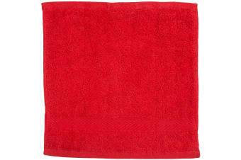 Towel City Luxury Range 550 GSM - Face Cloth / Towel (30 X 30 CM) (Red)
