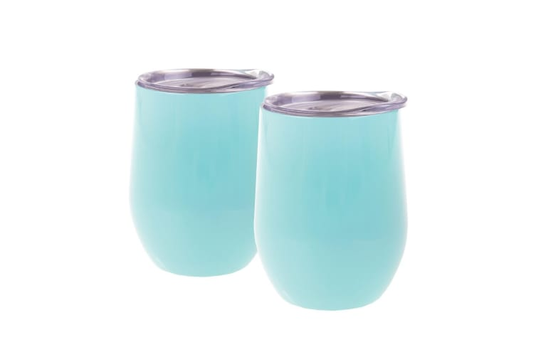 2 Piece Oasis Double Wall Insulated Wine Tumblers 330ml -spearmint