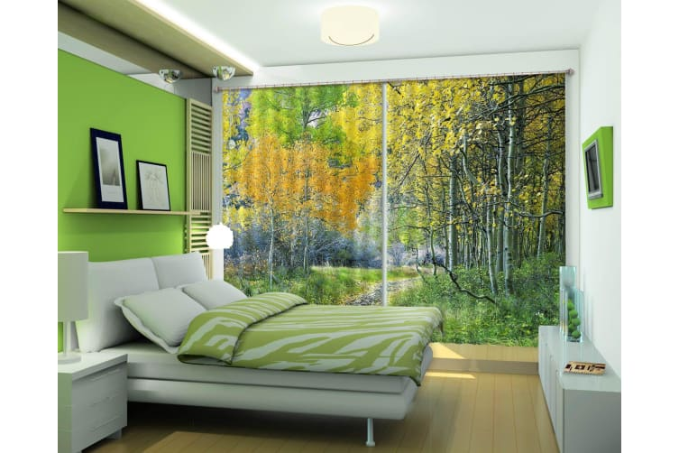 3D Forest Trail 207 Curtains Drapes, 264cmx160cm(WxH) 104''x 63''
