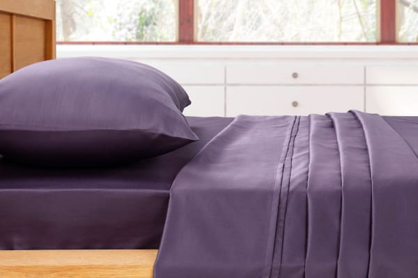 Ovela 400TC Cotton Rich Luxury Sheet Set (Single, Lilac)