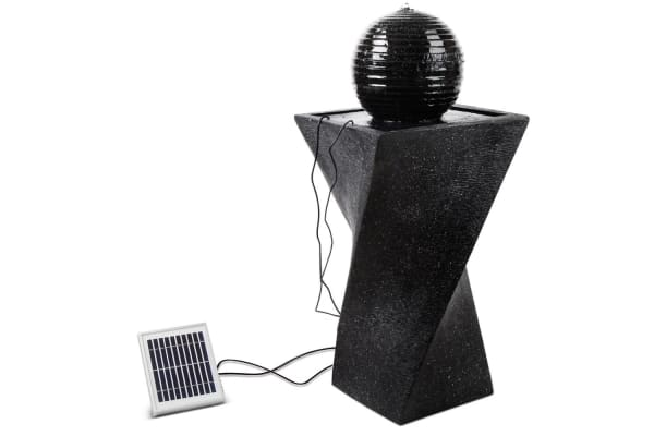Solar Fountain Twist Design with LED Lights