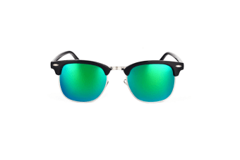 Classic Half Frame Semi-Rimless Polarized Sunglasses