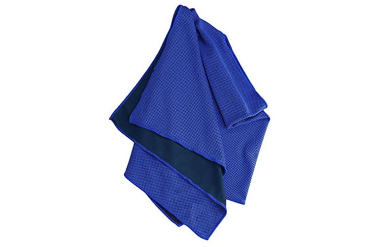 """Cooling Microfiber Towel (40""""x12""""),for Sport Workout Activities Navy"""