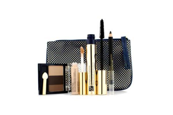 Estee Lauder Delectable Eyes Decadent Truffles Set: 1x Mascara, 1x Eye Shadow Compact, 1x Eyeliner, 1x Concealer (4pcs+1bag)
