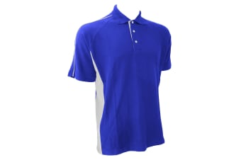 Finden & Hales Mens Sports Polo T-Shirt (Royal/White)