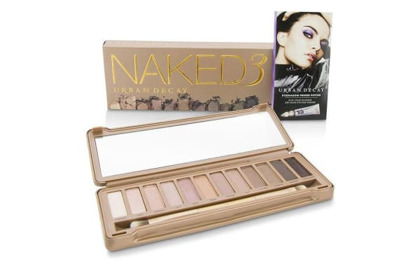 Urban Decay Naked 3 Eyeshadow Palette: 12x Eyeshadow, 1x Doubled Ended Shadow Blending Brush (-)