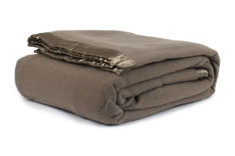 Jason Australian Wool Blanket (Taupe, Single Bed/Double Bed)