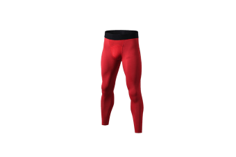 Men'S Compression Pants Cool Dry Baselayer Tights Leggings - Red Red M