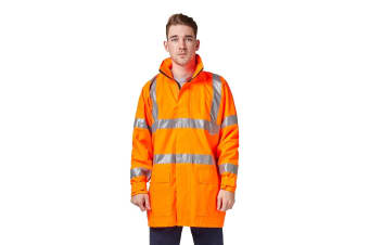 Hard Yakka High Vis Jacket with Reflective Tape (Orange)