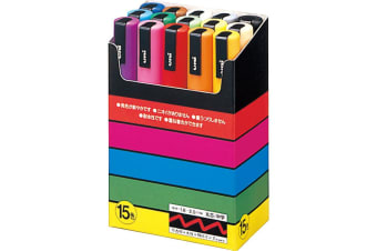 Uniball Posca Marker PC-5M : 15 Colour set