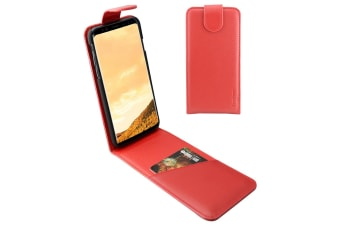 For Samsung Galaxy S8 PLUS Case iCoverLover Vertical Flip Genuine Leather Red