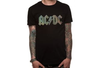 AC/DC Unisex Adults Tri Colour Dots Printed T-Shirt (Black) (L)