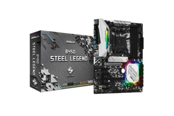 ASRock B450 Steel Legend ATX motherboard For AMD Ryzen 2nd/3rd Gen