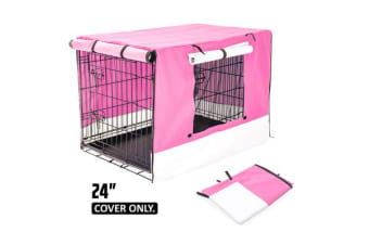 "24"" Cover for Wire Dog Cage - PINK"