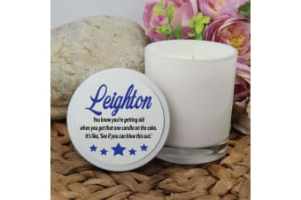 Birthday Scented Soy Candle 45hours Personalised Lid