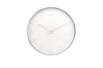 Karlsson Mr White Numbers Steel Wall Clock Small