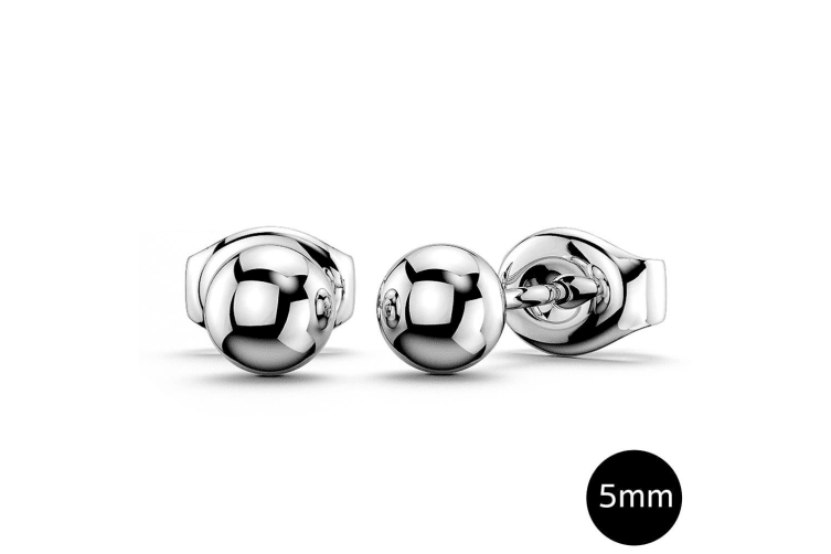 Boxed 3 Pairs Ball Stud Earrings Set White Gold