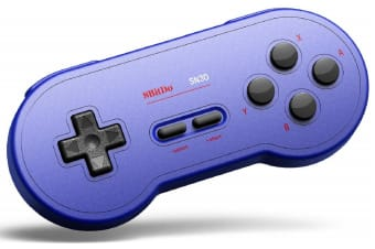 8Bitdo SN30 Wireless Bluetooth Gamepad - GP Blue Edition
