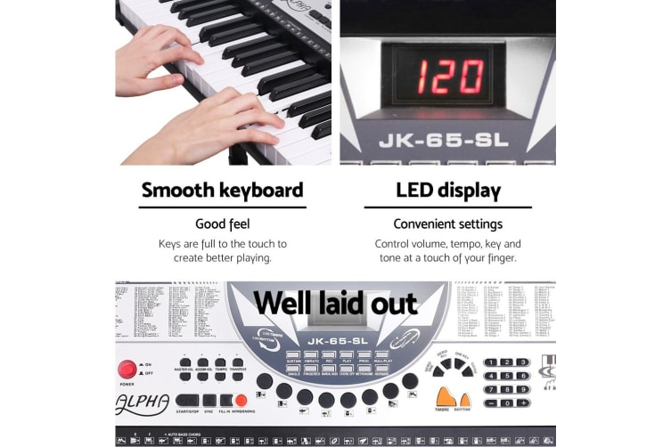 Alpha 61 Keys Electronic Piano Keyboard Electric Keyboards Professional