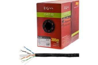 Doss 305M Cat6 Solid Cable Black