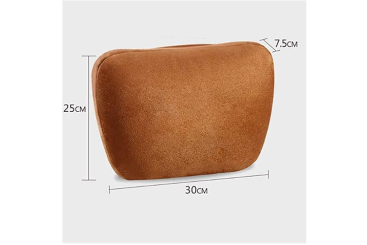 Soft Car Headrest Auto Seat Cover Cushion Neck Adjustable Pillow  BEIGE