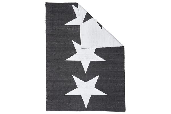 Coastal Indoor Out door Rug Star Black White 270x180cm