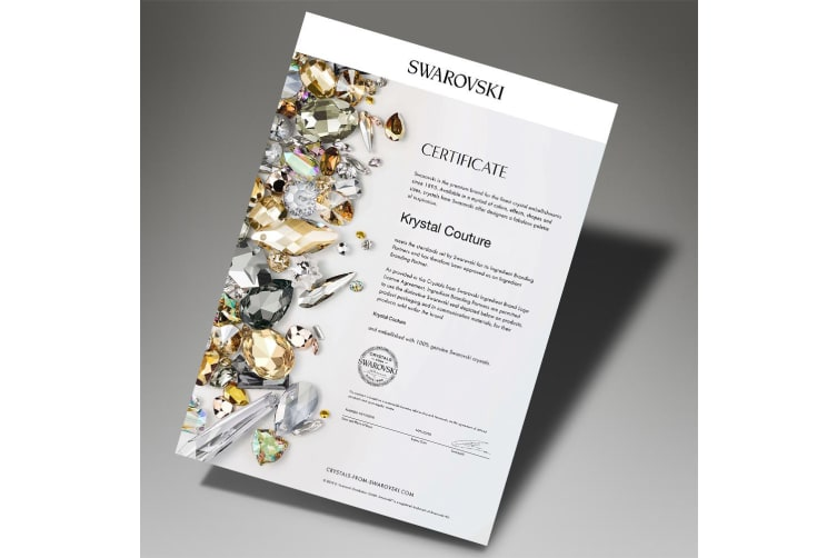Boxed 2 Pairs 18K White Gold Earrings Set Embellished with Swarovski crystals