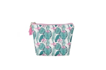 Fable Womens/Ladies Palm Tree Leaf Print Makeup Bag (Multicoloured)