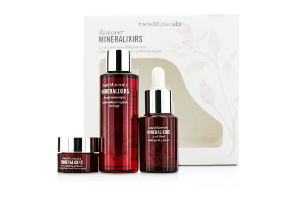 Bare Escentuals Discover Mineralixirs Kit: Facial Cleansing Oil 58ml + Eye Nourishing Oil Balm 3.5g + 5-Oil Blend 15ml (3pcs)