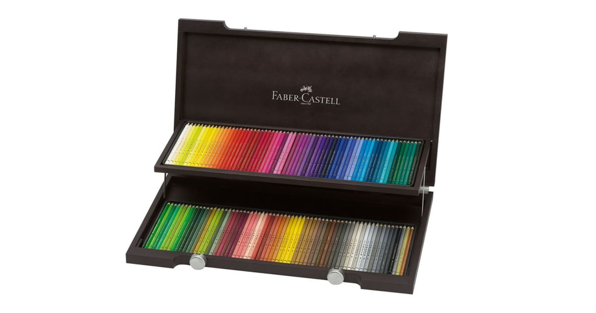 dick smith faber castell albrecht durer watercolour pencils 120 assorted colours wood case. Black Bedroom Furniture Sets. Home Design Ideas