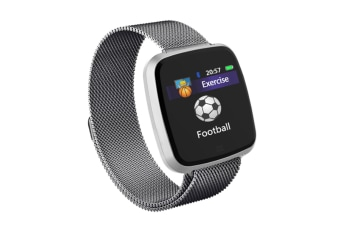 Smart Watch Removable Watchband Bluetooth Watch Call Reminder Heart Rate Silver Steel