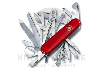 VICTORINOX SWISS CHAMP SWISS ARMY POCKET KNIFE  35763 TOOL 33 FUNCTIONS