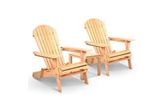 Adirondack Chairs & Side Table  3 Piece Set (Hemlock)