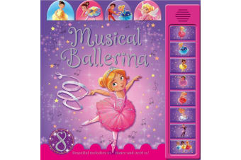 Tabbed Sound Book - Musical Ballerina with 8 sounds