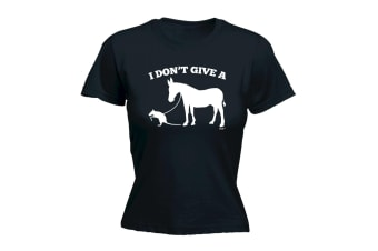 123T Funny Tee - I Dont Give A - (XX-Large Black Womens T Shirt)