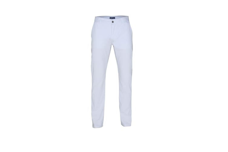Asquith & Fox Mens Classic Casual Chinos/Trousers (White) (ST)
