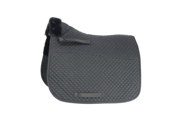 HySPEED Fab Fleece Lined Saddle Cloth (Black) (One Size)