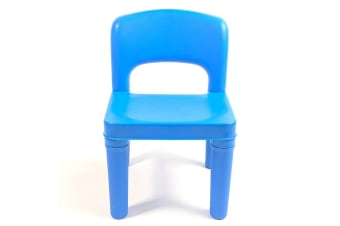 Kids Chair for Build Blocks LEGO Play Table - Blue