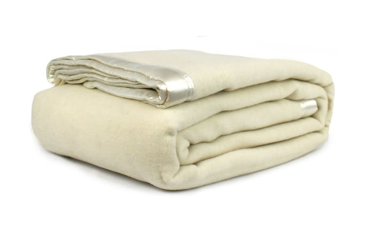 Jason Australian Wool Blanket (Natural, Single Bed/Double Bed)