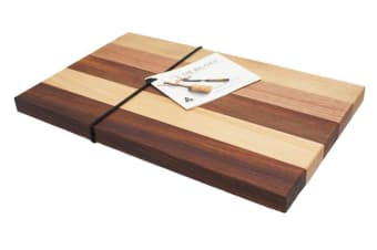 The Big Chop Gordon River Collection Rectangular Chopping Board 34x22x2cm 5 Timbers