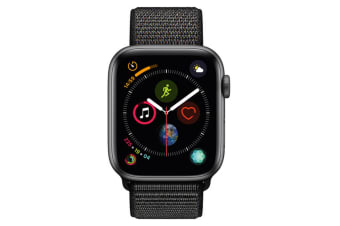 Apple Watch Series 4 44mm GPS Space Grey Aluminium Case with Black Sport Loop
